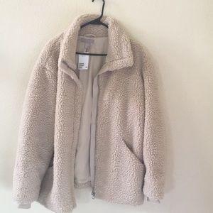 Tan colored fur coat